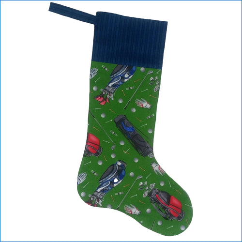 Golf Bag Christmas Stocking - Karen's Kases