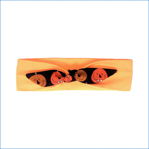 Halloween Pumpkins on Yellow Urban Headband - Karen's Kases