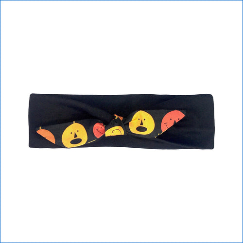 Halloween Pumpkins on Black Urban Headband - Karen's Kases