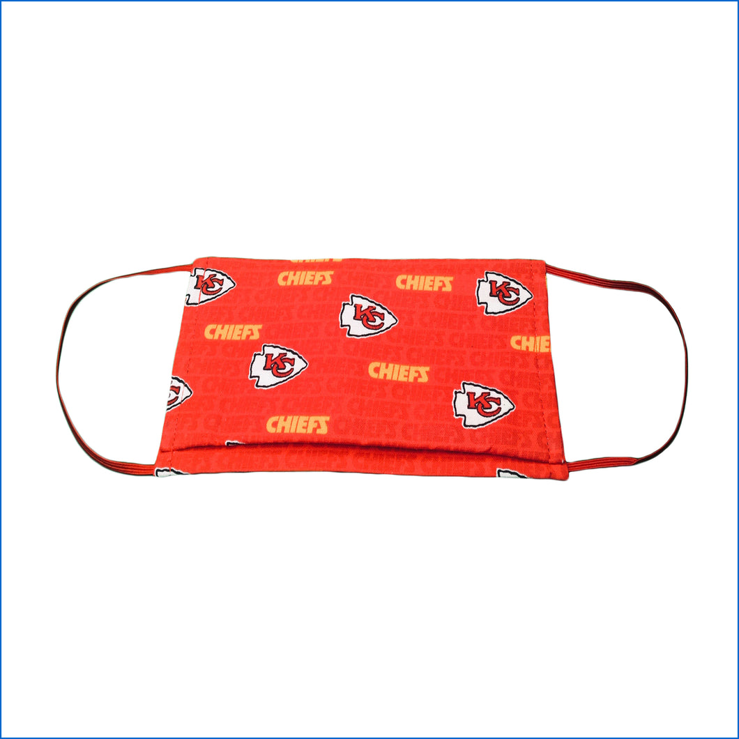 Kansas City Chief's Red Face Mask - Karen's Kases
