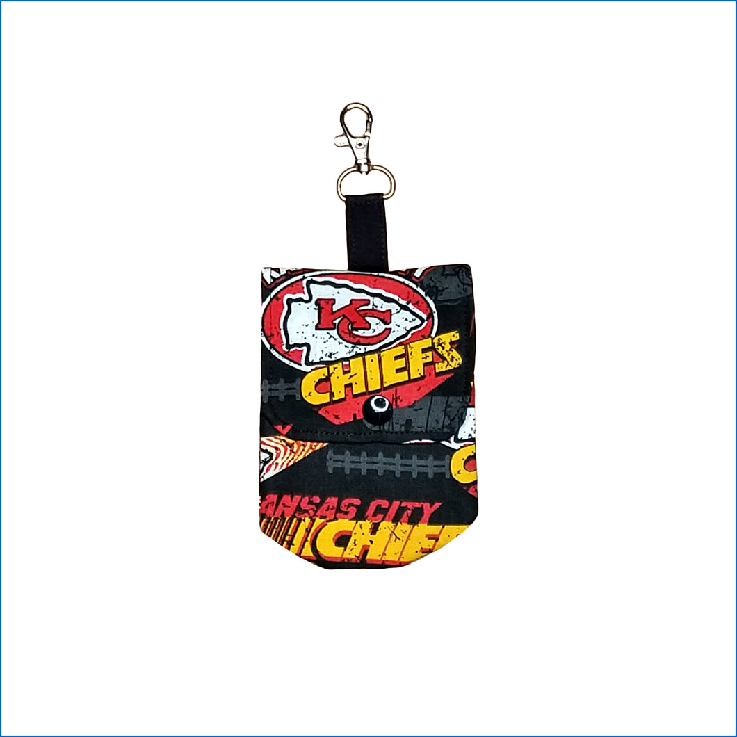 Kansas City Chiefs Black Sanitizer Holder