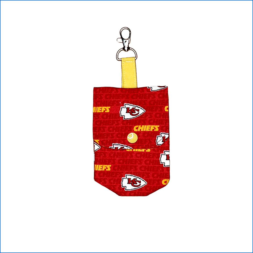 Kansas City Chiefs Red with Yellow Sanitizer Holder