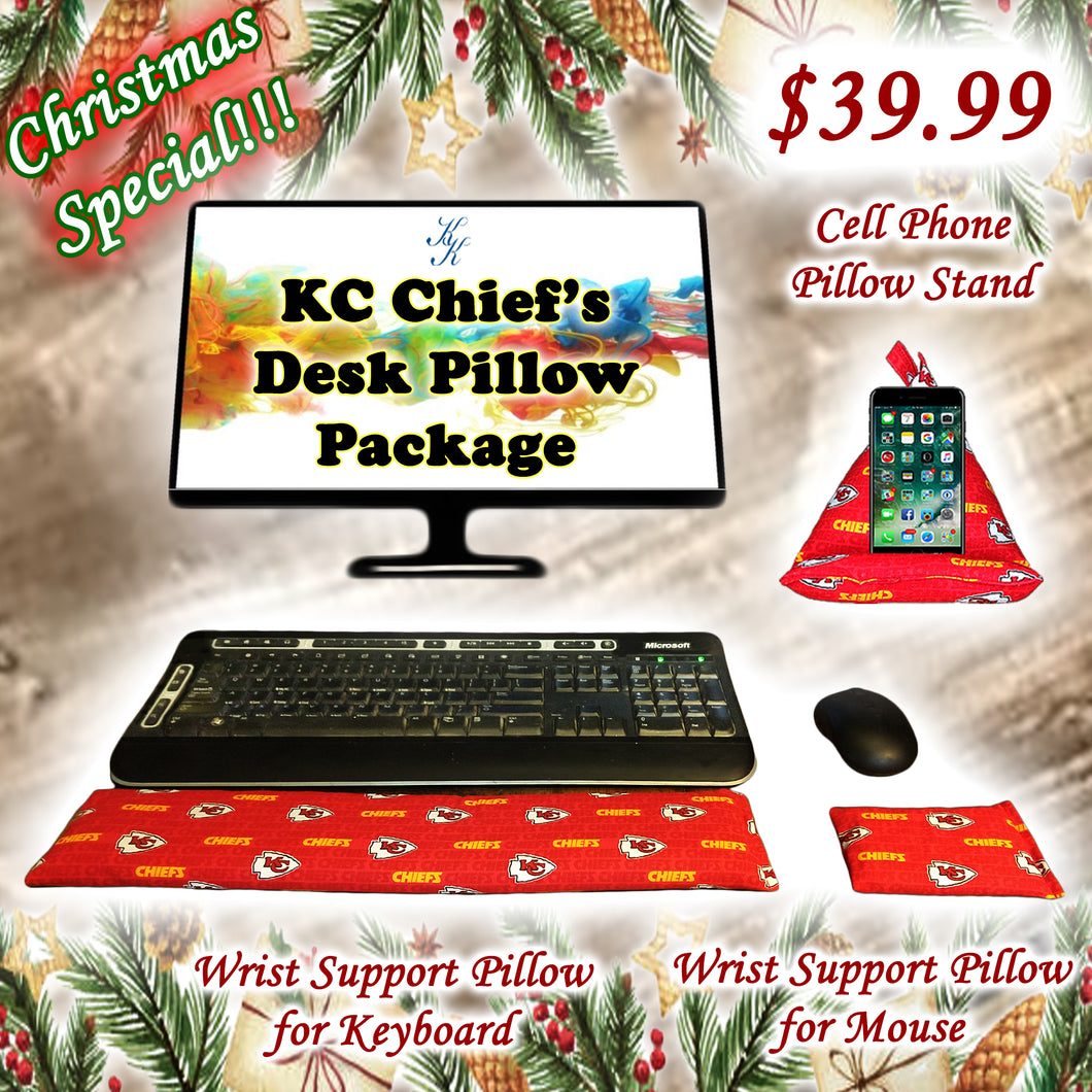 Kansas City Chief's Desk Pillow Package