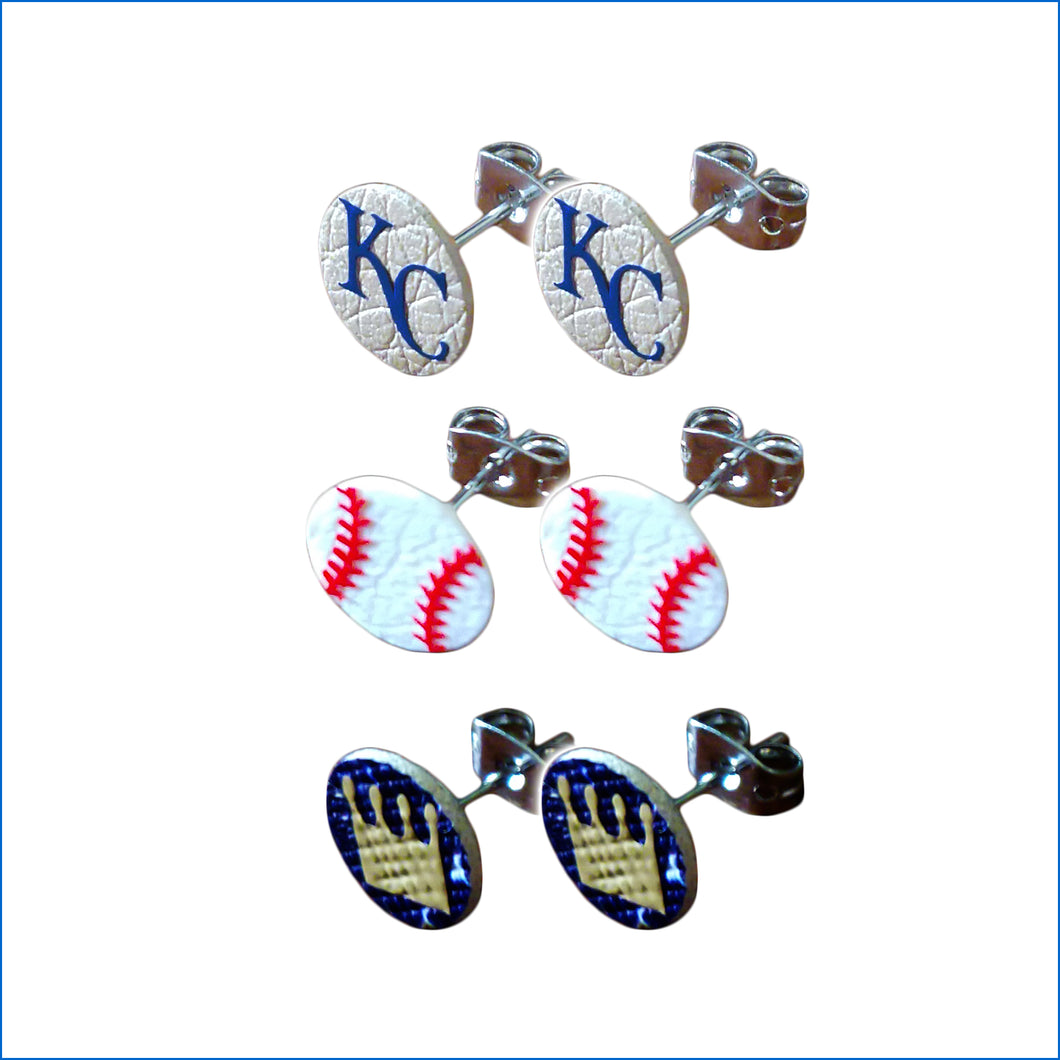 Kansas City Royals 3-Piece Stud Earring Set