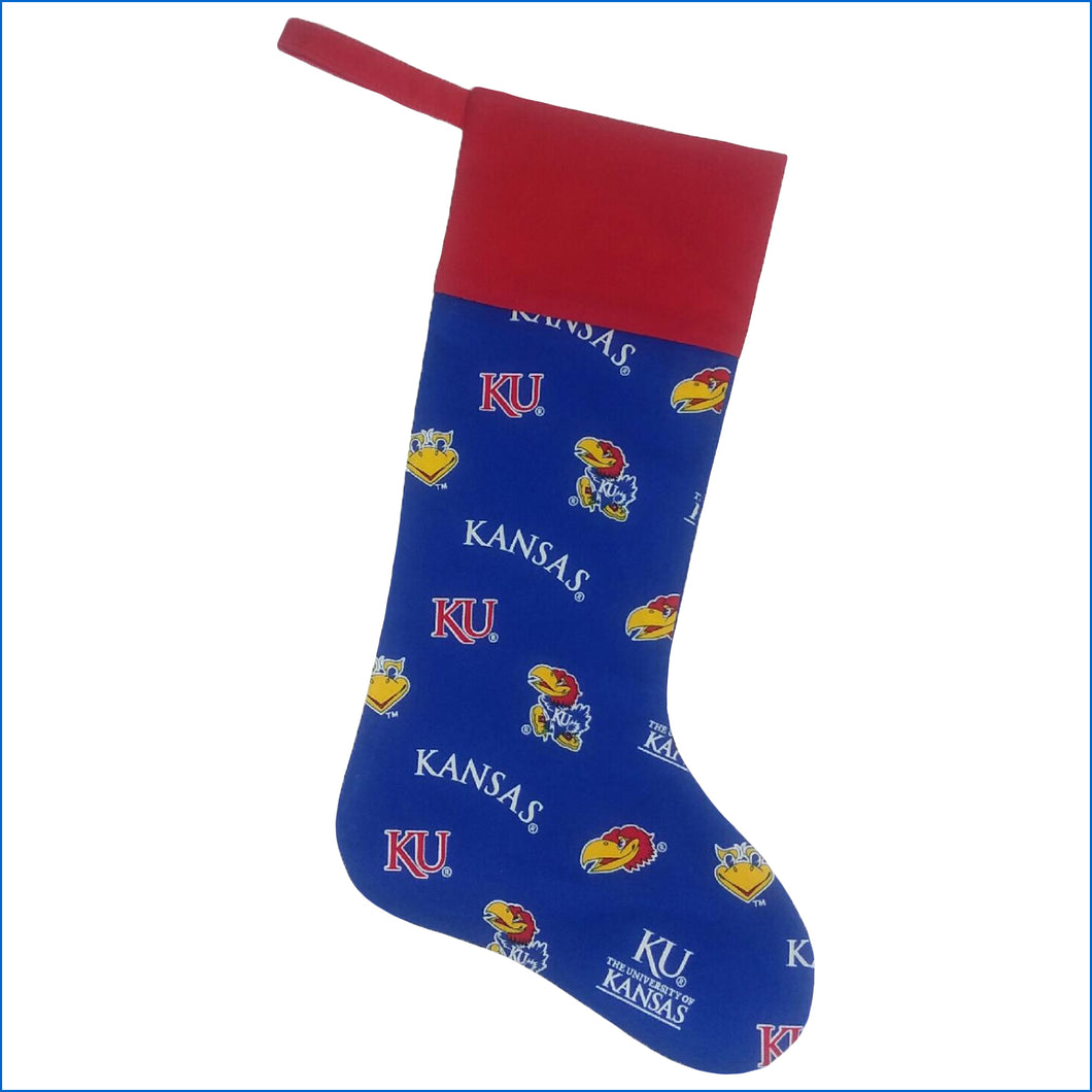 Kansas Jayhawks Christmas Stocking - Karen's Kases