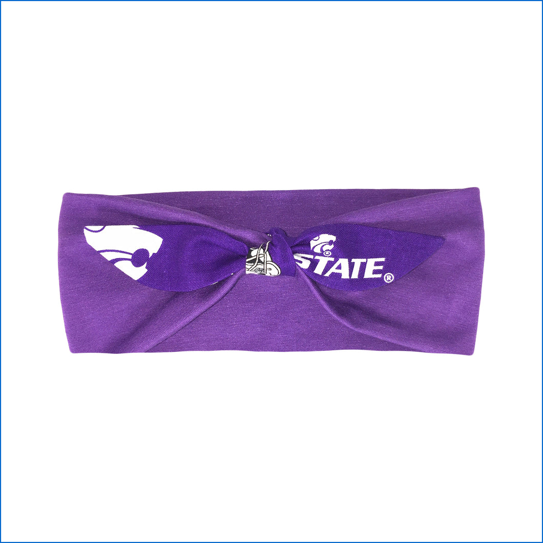 Kansas State Wildcats on Purple Urban Headband - Karen's Kases