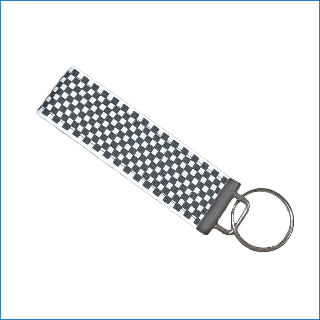 Checkered Flag NASCAR Key Fob - Karen's Kases