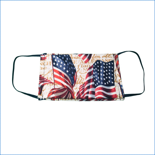 Patriotic Flags Face Mask - Karen's Kases