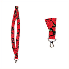 Red Geraniums Lanyard