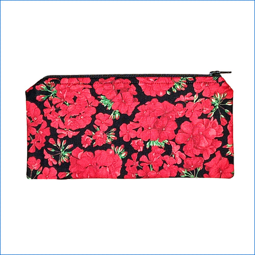 Red Geraniums Pencil Bag