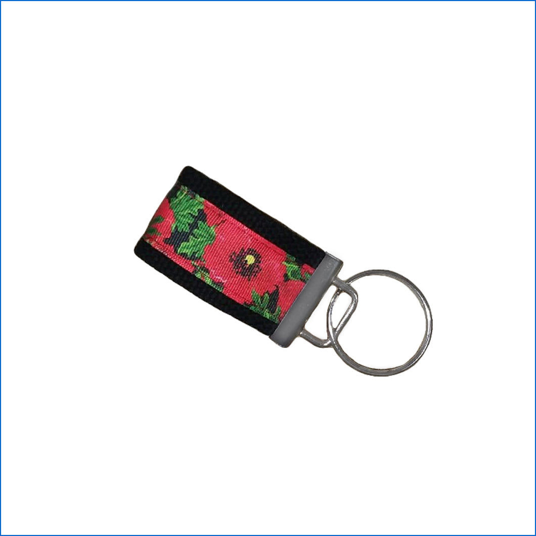 Red Poppy's Mini Key Fob - Karen's Kases