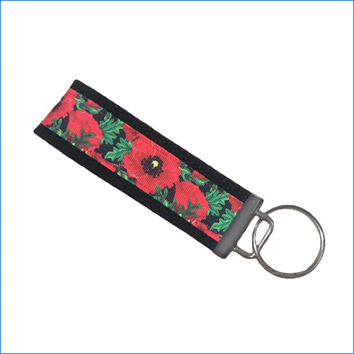 Red Poppy Key Fob - Karen's Kases