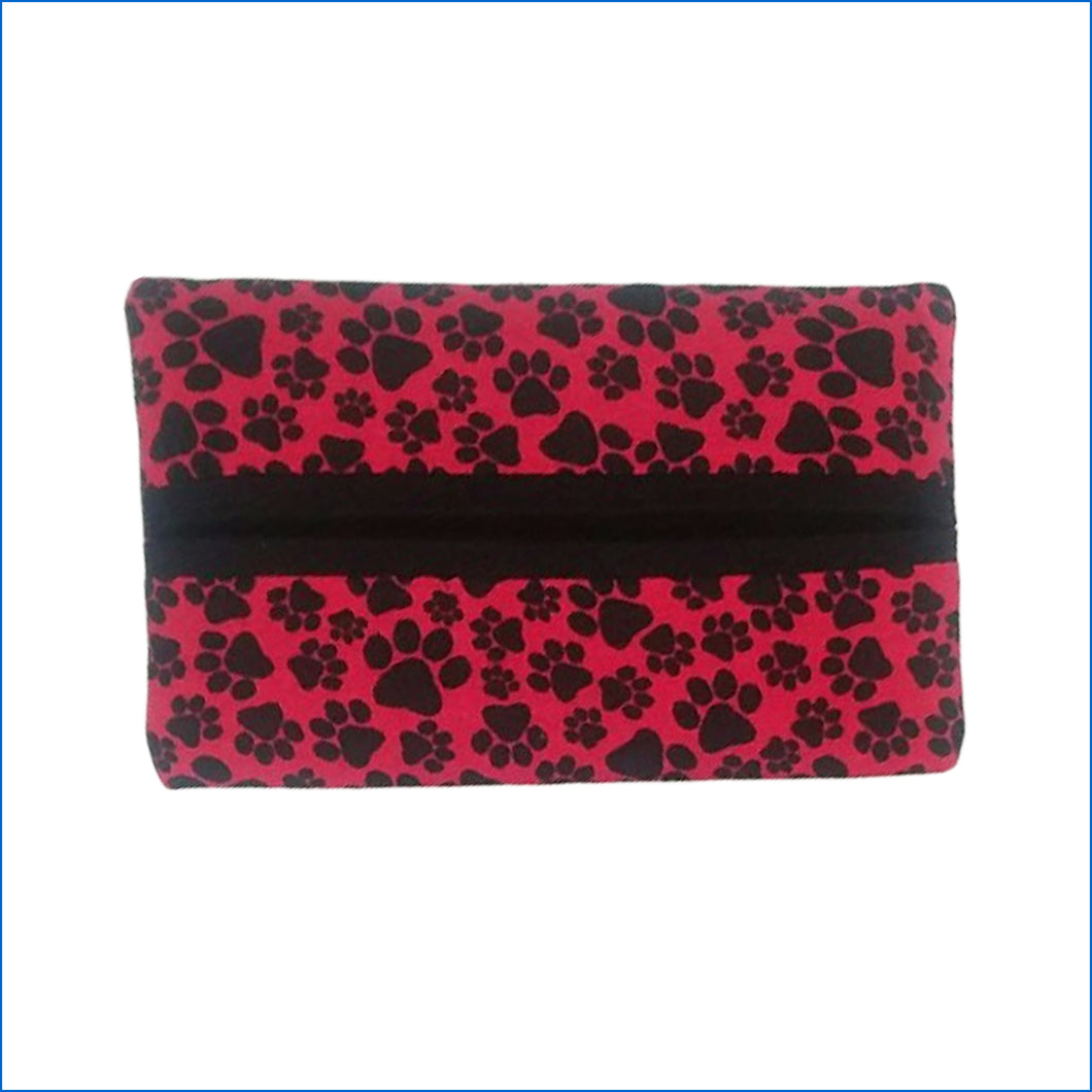 Red and Black Paw Prints Tissue Holders - Karen's Kases