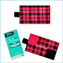 Red and Black Checkered Tissue Holder