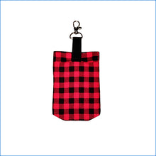 Red and Black Plaid Sanitizer Holder