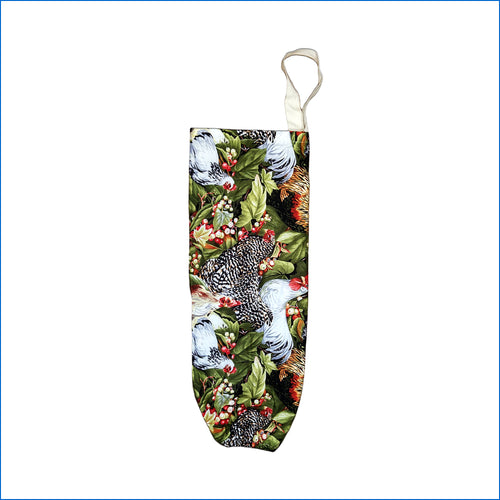 Roosters and Hens Plastic Bag Holder