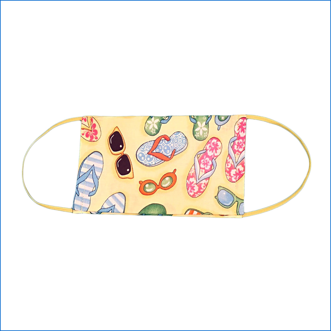Sandals and Sunglasses Face Mask - Karen's Kases