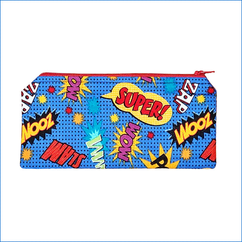 Superhero Words Pencil Bag