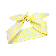 Yellow and White Polka Dot Hair Tie - Karen's Kases