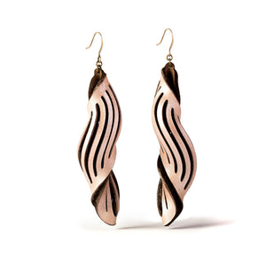 Spira Leather Earrings | Kristina Michelle Jewelry