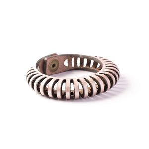 Nautilus Leather Bangle | Kristina Michelle Jewelry