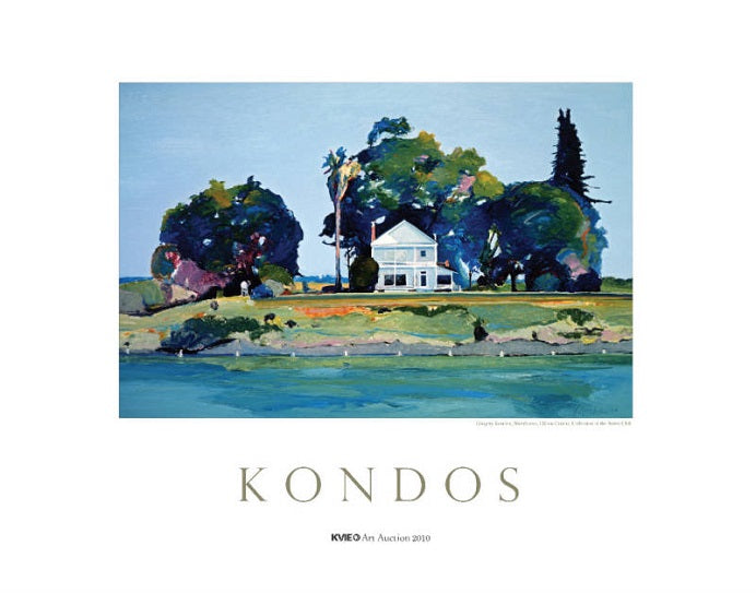 Gregory Kondos: Riverhouse Print - KVIE 2010 Edition