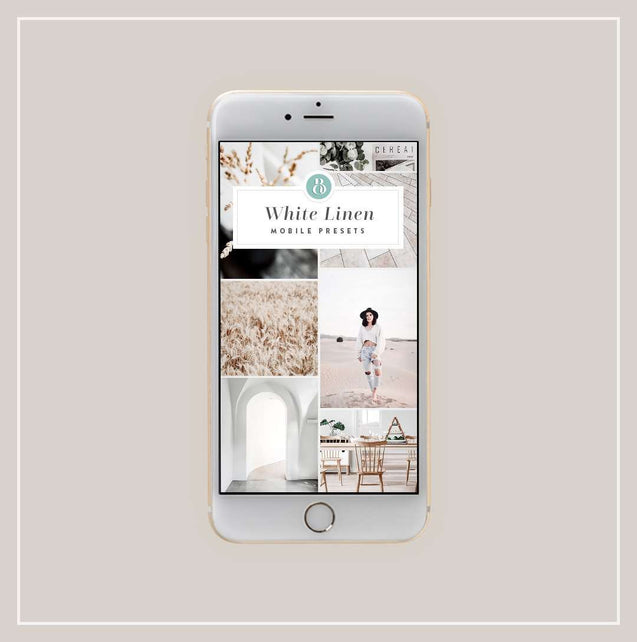 White Linen Mobile Presets - Bellevue Avenue