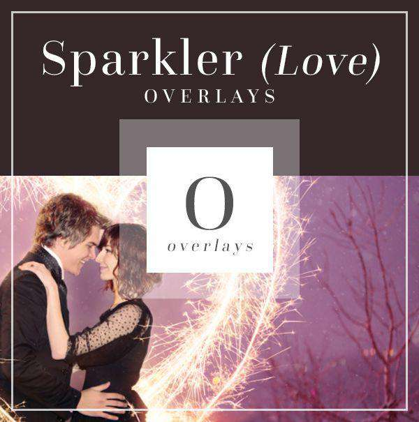 Sparklers Love/Wedding Overlays