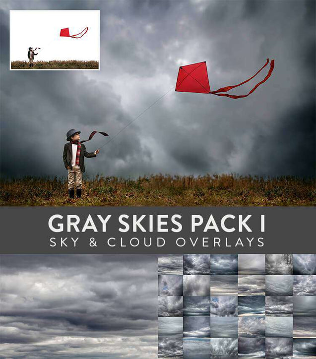 Sky And Cloud Overlays - Sky & Cloud Overlays: Gray Skies Pack I