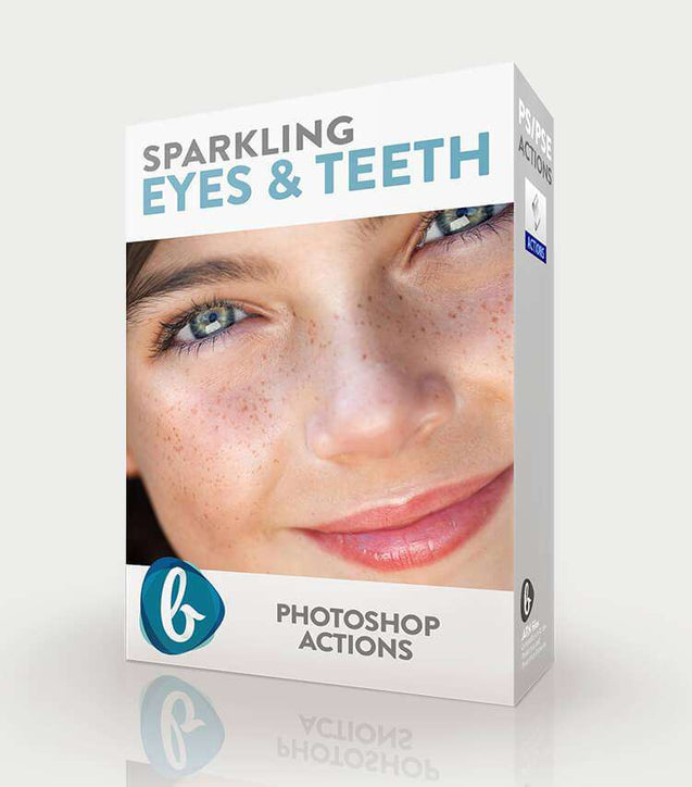Sparkling Eyes & Teeth Photoshop Actions