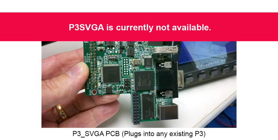 P3SVGA_P3SVGA P3 Video/FFT Adapter, Kit
