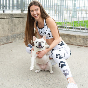 Aww Paws in White - Call Me Activewear