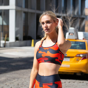 Camo Fire Sport Bra - Call Me Activewear