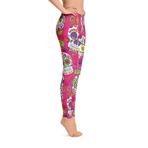 Sugar Skulls in Pink - Call Me Activewear