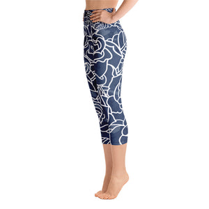 Night Bloom High Waist Capri - Call Me Activewear
