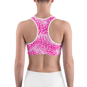 Pink Fern Sports bra - Call Me Activewear