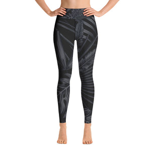 Black Palm in Higher Waisted - Call Me Activewear
