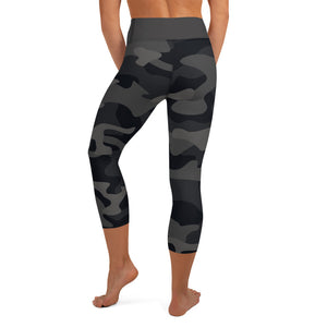 Black Camo in High Waist Capri - Call Me Activewear