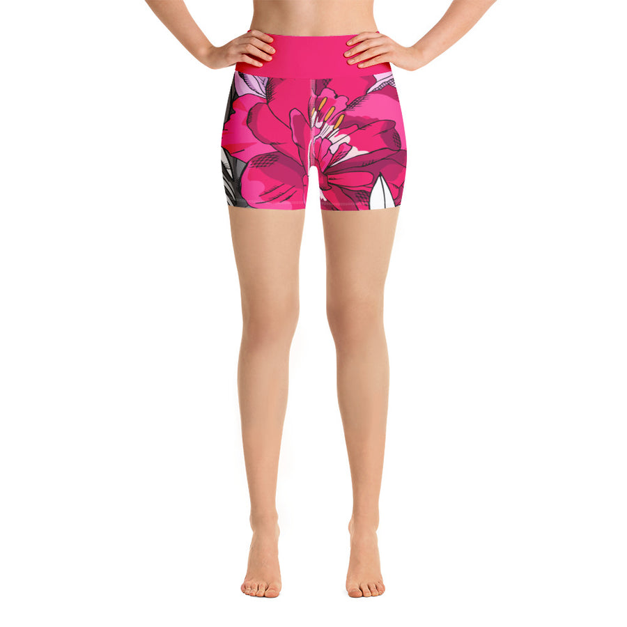 Zinnia Bali High Waist Shorts - Call Me Activewear