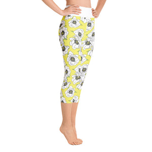 NEW Gardenia in Lemon High Waist Capris BACK IN STOCK - Call Me Activewear