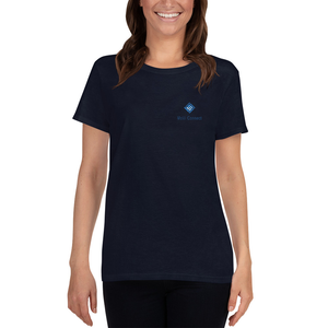 MoVi Connect Women's Crew Neck Tee in Navy