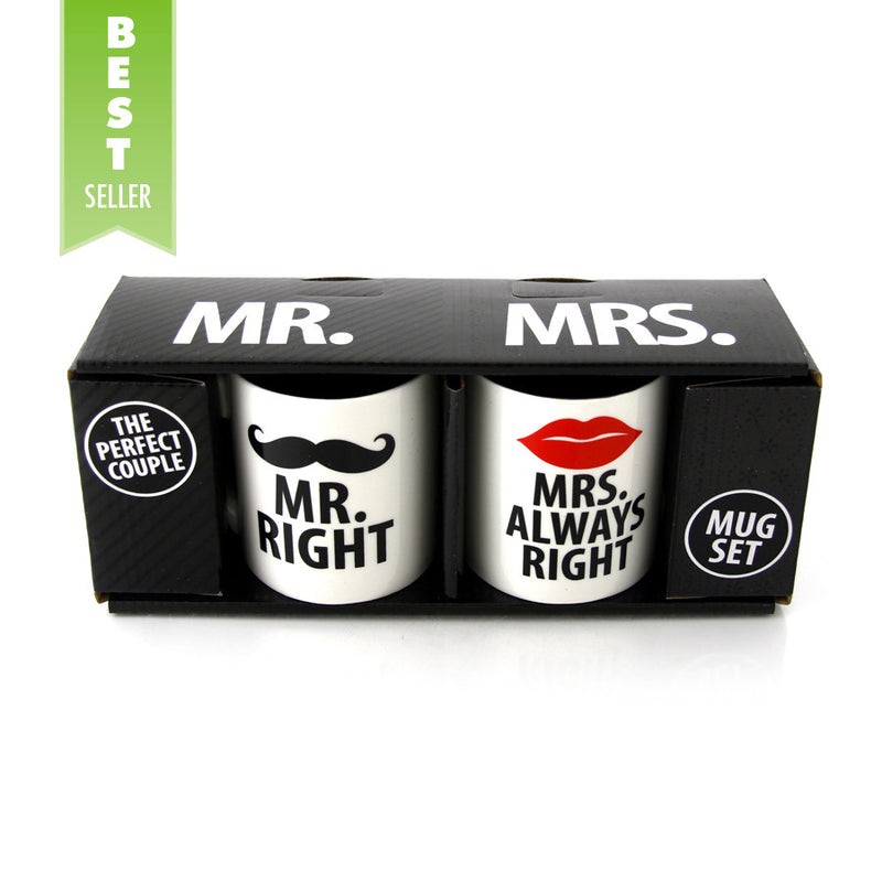Mr. & Mrs. Right Mug Set