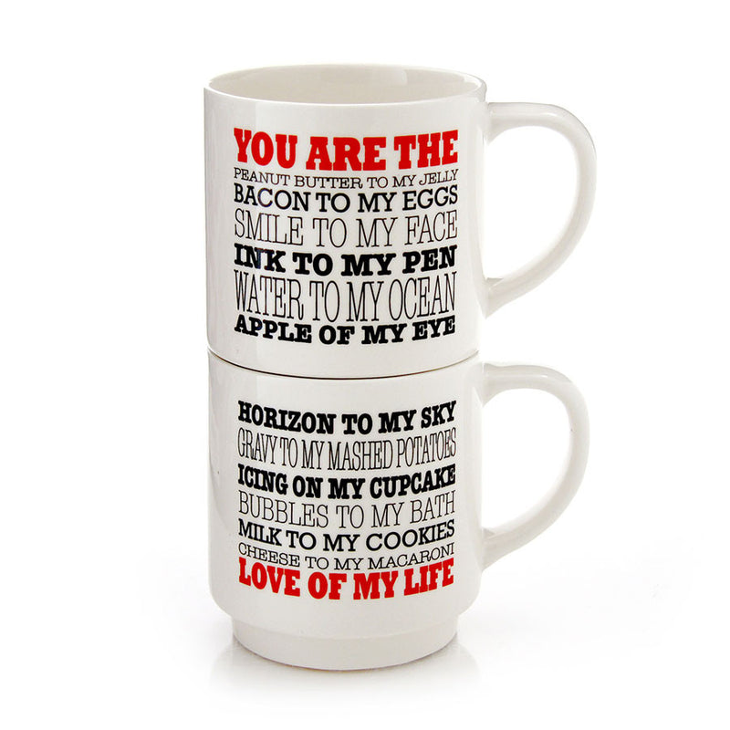 Love of My Life Stacking Mugs