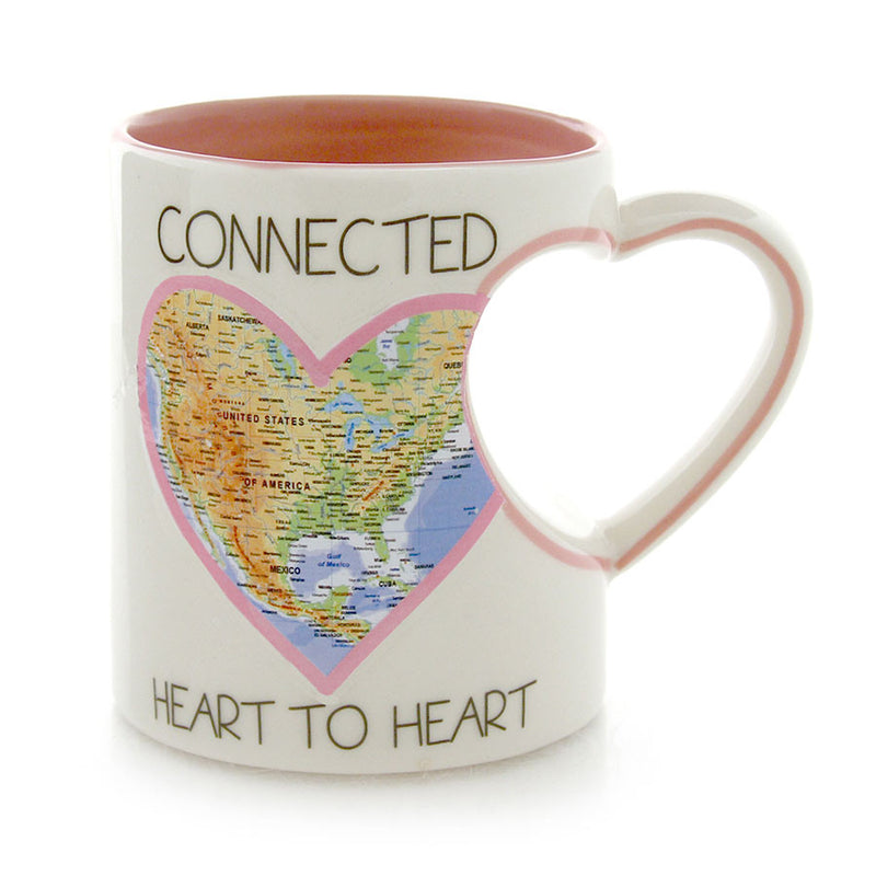 Connected Heart Map Mug