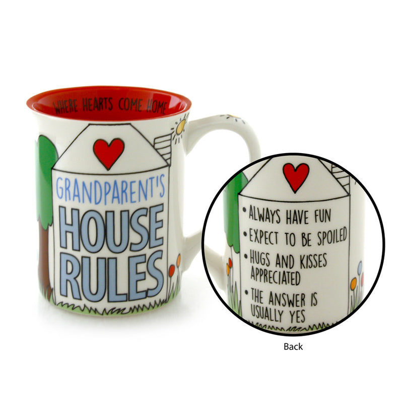 Grandparents House Rules Mug