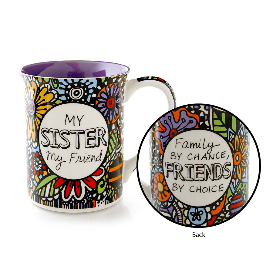 sister friend cuppa doodle mug our name is mud