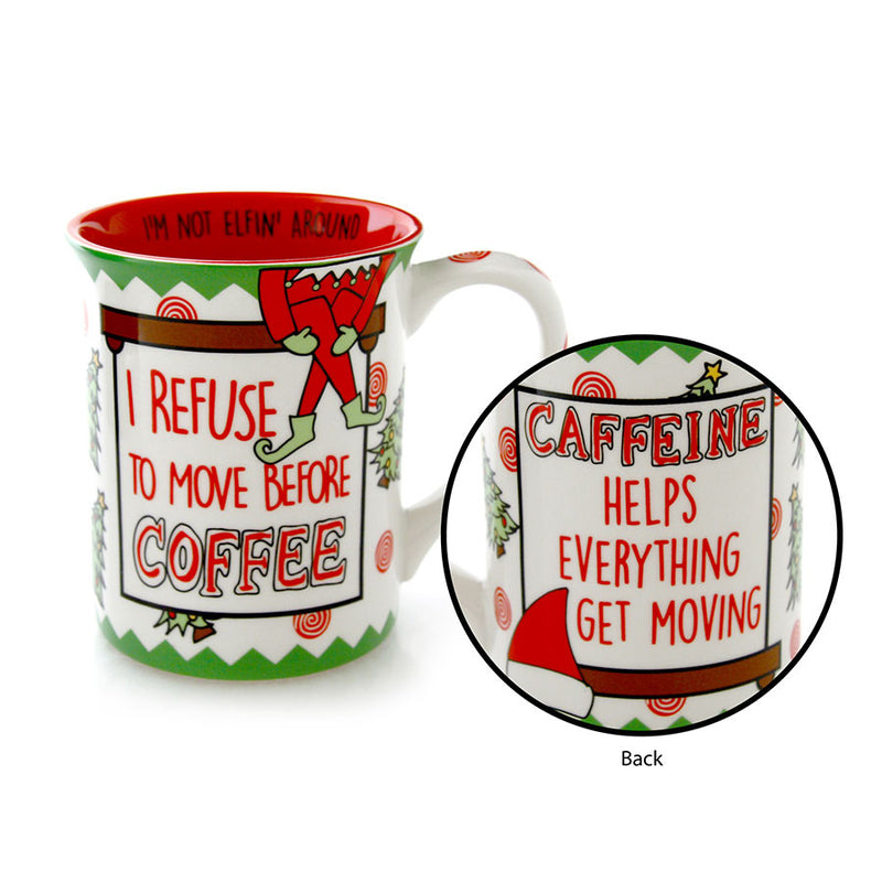 Move the Elf Christmas Mug