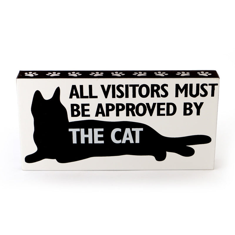 Cat Wall D�cor Visitor Approve