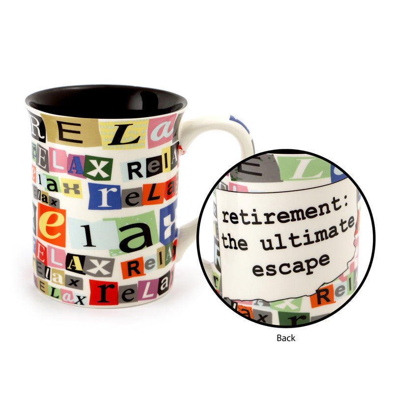 Ransom Note Retirement Mug