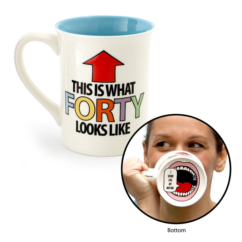 Forty Birthday Mouth Mug